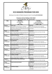 eco-rangers discovery program for kids - O'Reilly's Rainforest Retreat