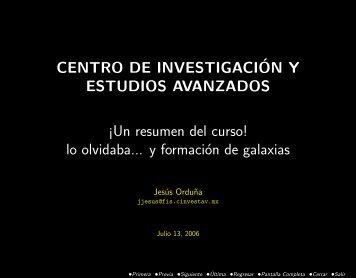 CENTRO DE INVESTIGACI´ON Y ESTUDIOS AVANZADOS ¡Un ...