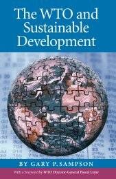 The WTO and sustainable development - United Nations University