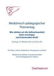 Medizinisch-pädagogischer Thementag