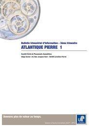 ATLANTIQUE PIERRE 1 - Haussmann Patrimoine
