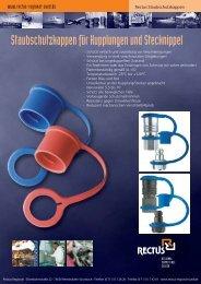 Staubschutzkappen für Kupplungen und Stecknippel