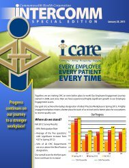 1-2013 Special Edition Engagement Intercomm - The Medical Center