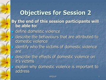 DV in the Pacific 2007 - Pacific Prevention of Domestic Violence ...