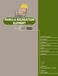 Parks & Recreation Element - City of Las Vegas