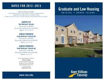 Graduate and Law Housing - Roger Williams University