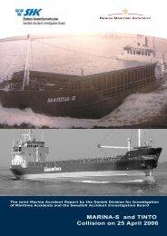 MARINA-S and TINTO Collision on 25 April 2006 - Danish Maritime ...