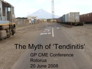 The Myth of Tendonitis - General Practice Conference & Medical ...