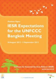 Position paper IESR – Bangkok 2012
