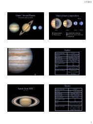 Jovian Planets - Greensboro Day School