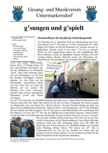 Vereinsnachrichten 2009-03 - GMV Untermarkersdorf