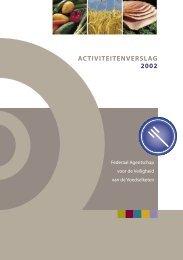 ACTIVITEITENVERSLAG 2002 - FAVV