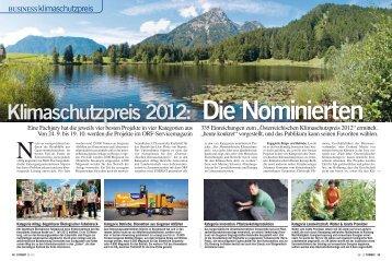 Klimaschutzpreis 2012: Die Nominierten - Format