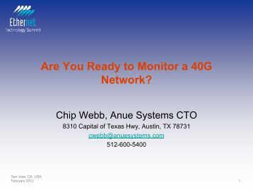 Are You Ready to Monitor a 40G Network? - Ethernet Technology ...