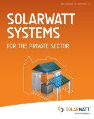Brochure SOLARWATT SYSTEMS for private sector