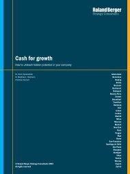Cash for growth - Roland Berger Strategy Consultants