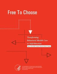 Free to Choose: Transforming Behavioral Health ... - SAMHSA Store