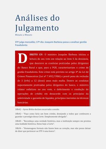 Aná lises do Julgámento - Escola de Direito de São Paulo