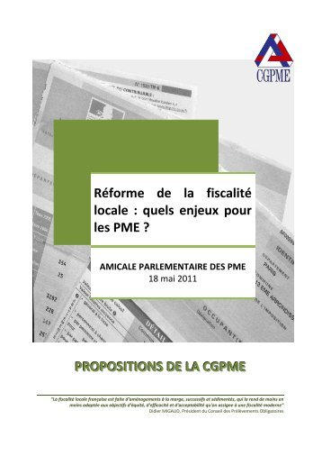 Les PME et la fiscalité locale - CGPME Paris Ile de France