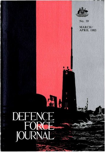 ISSUE 39 : Mar/Apr - 1983 - Australian Defence Force Journal