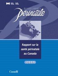 Rapport sur la santé périnatale au Canada - Publications du ...