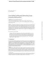 Cross-Selling Lending and Underwriting - Review of Finance