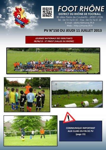 PV N°150 DU JEUDI 11 JUILLET 2013