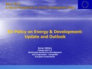 EU Policy on Energy & Development: Update and Outlook Rainer ...
