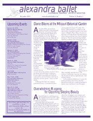 Vol.5 Issue 2 Dec. 2003 - Alexandra Ballet