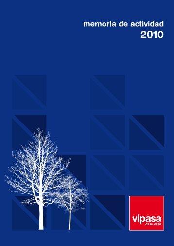 Memoria de actividad 2010 - Vipasa