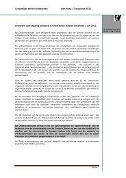 tussentijdse aanbevelingen - Onderzoeksraad voor Veiligheid