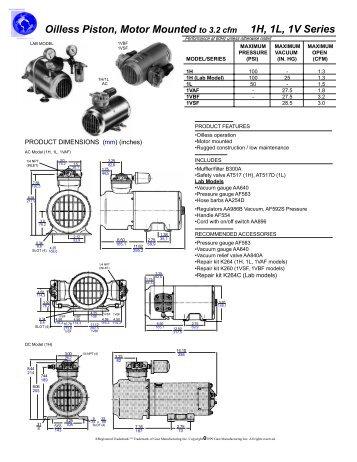 1H/1L/1V series piston spec sheets