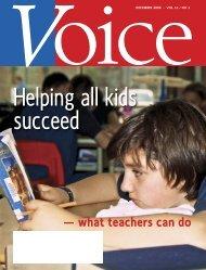 December 2008 - The member magazine of the Elementary Teachers