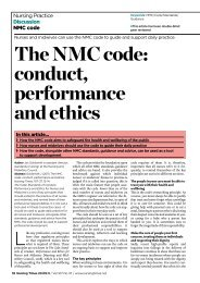 The NMC code: conduct, performance and ethics - Nursing Times