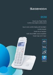 Easy to use, finger friendly Comfort class digital cordless phone ...
