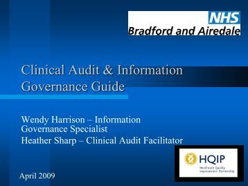 Clinical audit and information governance - HQIP