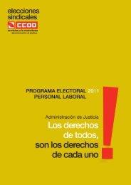 Programa electoral del Sector de Administración de Justicia