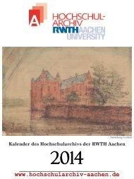 Kalender 2014 - Hochschularchiv der RWTH Aachen