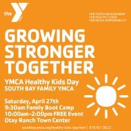 GROWING STRONGER TOGETHER - South Bay Family YMCA