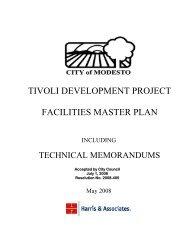 City of Modesto - Tivoli Development Project Facilities Master Plan ...
