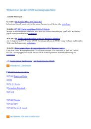 Aktuelle Meldungen 11.07.2013 ... - DVGW Nord