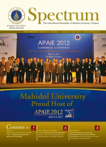 Volume 19 Number 1 (January - April 2012) - Mahidol University