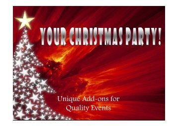 Unique Add Ons for Quality Christmas Events - Doub7e Seven