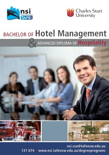 BACHELOR OF Hotel Management - Charles Sturt University