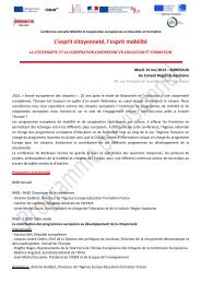 Programme - Agence Europe-Education-Formation France