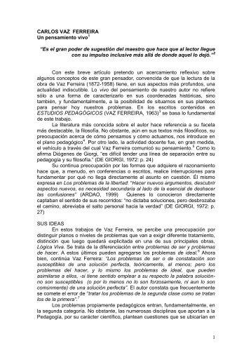 CARLOS VAZ FERREIRA - Uruguay Educa