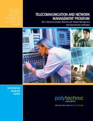 telecommunication and network management program - New York's ...