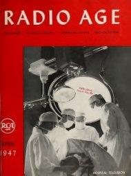 Radio Age - 1947, April - 36 Pages, 3.6 MB, .PDF - VacuumTubeEra