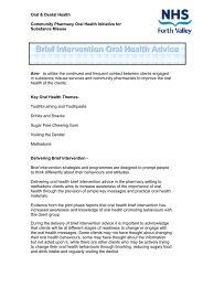 Brief Intervention Oral Health Advice - Community Pharmacy