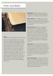Holz und Stein - Download PDF - Wohncenter von Allmen AG